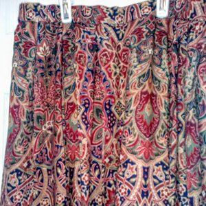 Vintage EC Pendleton print rayon skirt, Sz 10